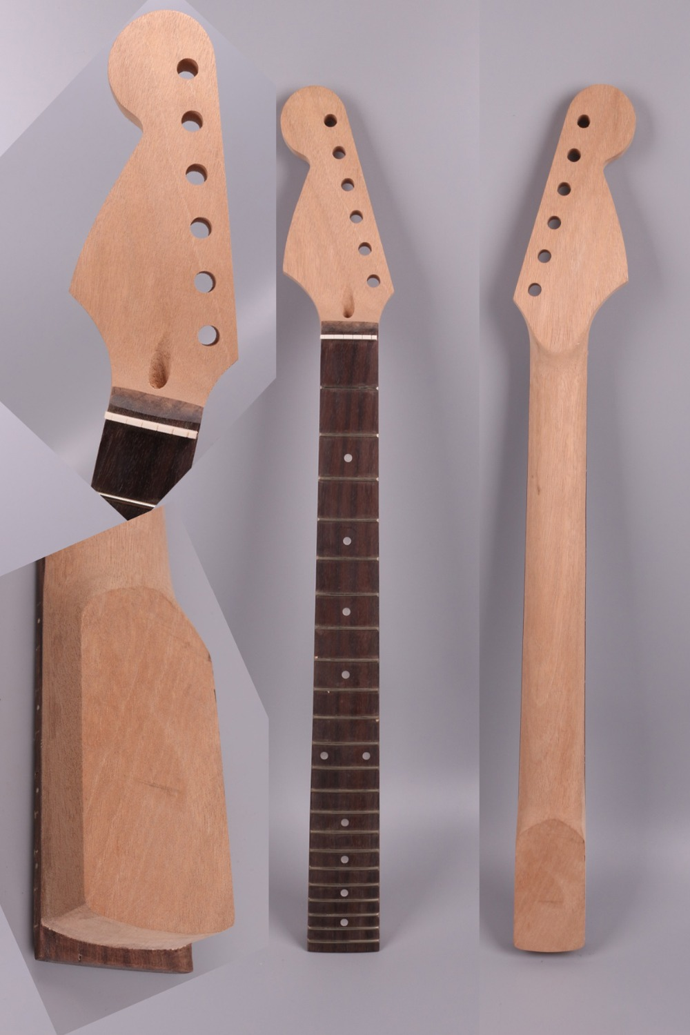 Yinfente Strat electric guitar neck replacement 22 fret Reverse head rosewood fretboard Dot inlay 25.5 inch Mahogany Neck #S37 yinfente electric guitar neck 22 fret reversed head rosewood fretboard 25 5 inch maple locking nut shark inlay 13