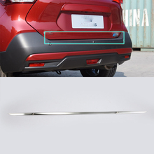 2017 car parts Stainless Steel rear door moulding cover 1pcs Car Styling For Nissan 17 KICKS