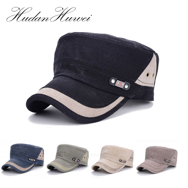 Fashion New Spring Cotton Men Women Military Hats Adjustable Flat Cap  Casual Adult Army Cap Sunhat GH-6 d563d08edc