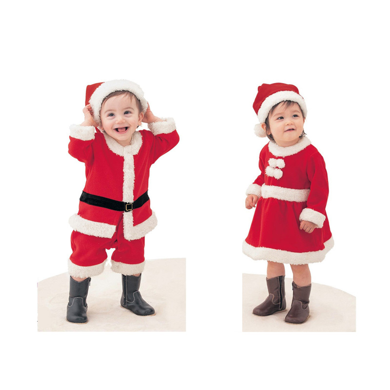 Baby Sets 2pcs Christmas Baby Clothes Santa Claus Clothes Kids Overalls Boys Rompers Girls Dresses Infant Party Jumpsuit V49 christmas gift 2016 hot baby jumpsuit santa claus clothes kids overalls newborn boys girls romper children costume