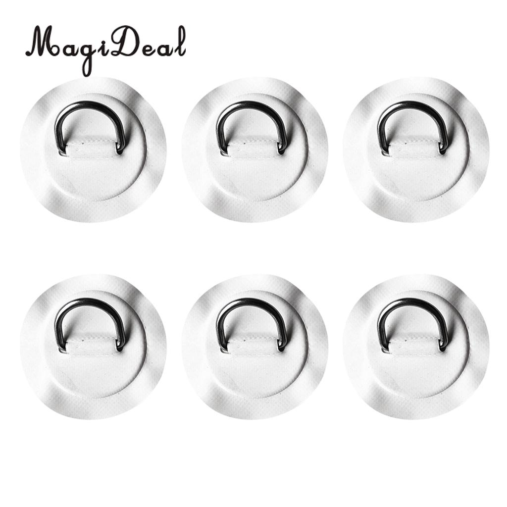 6pcs Stainless Steel D-ring Pad// Patch for PVC Inflatable Boat Surfboard SUP