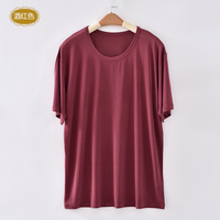 In The Summer Of 2013 Men S Silk Short Sleeve T Shirt 100 Mulberry Silk Knitting
