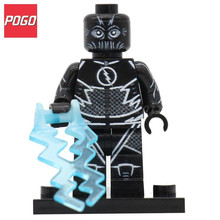 POGO Black Flash Action Figure Superhero DIY Model Building Brick Sets Single Sale Legoingly Educational Toys