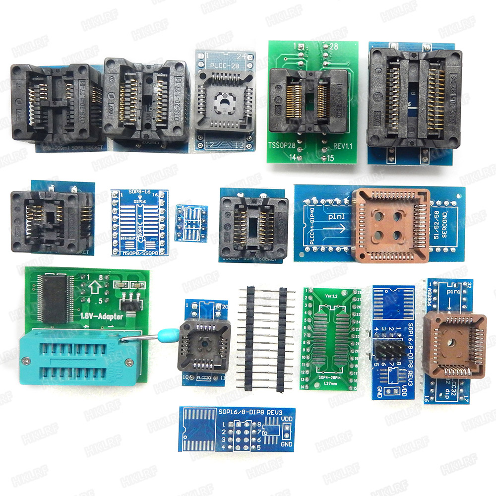Image 2 - 100% XGECU Original  TL866II Plus Universal Programmer+17 Adapters+SOP8 IC Clip  High speed TL866 Flash EPROM Programmer-in Integrated Circuits from Electronic Components & Supplies
