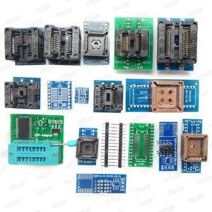 Image 2 - 100% xgecu オリジナル TL866II プラスユニバーサルプログラマ + 17 アダプタ + SOP8 ic クリップ高速 TL866 フラッシュ eprom プログラマ