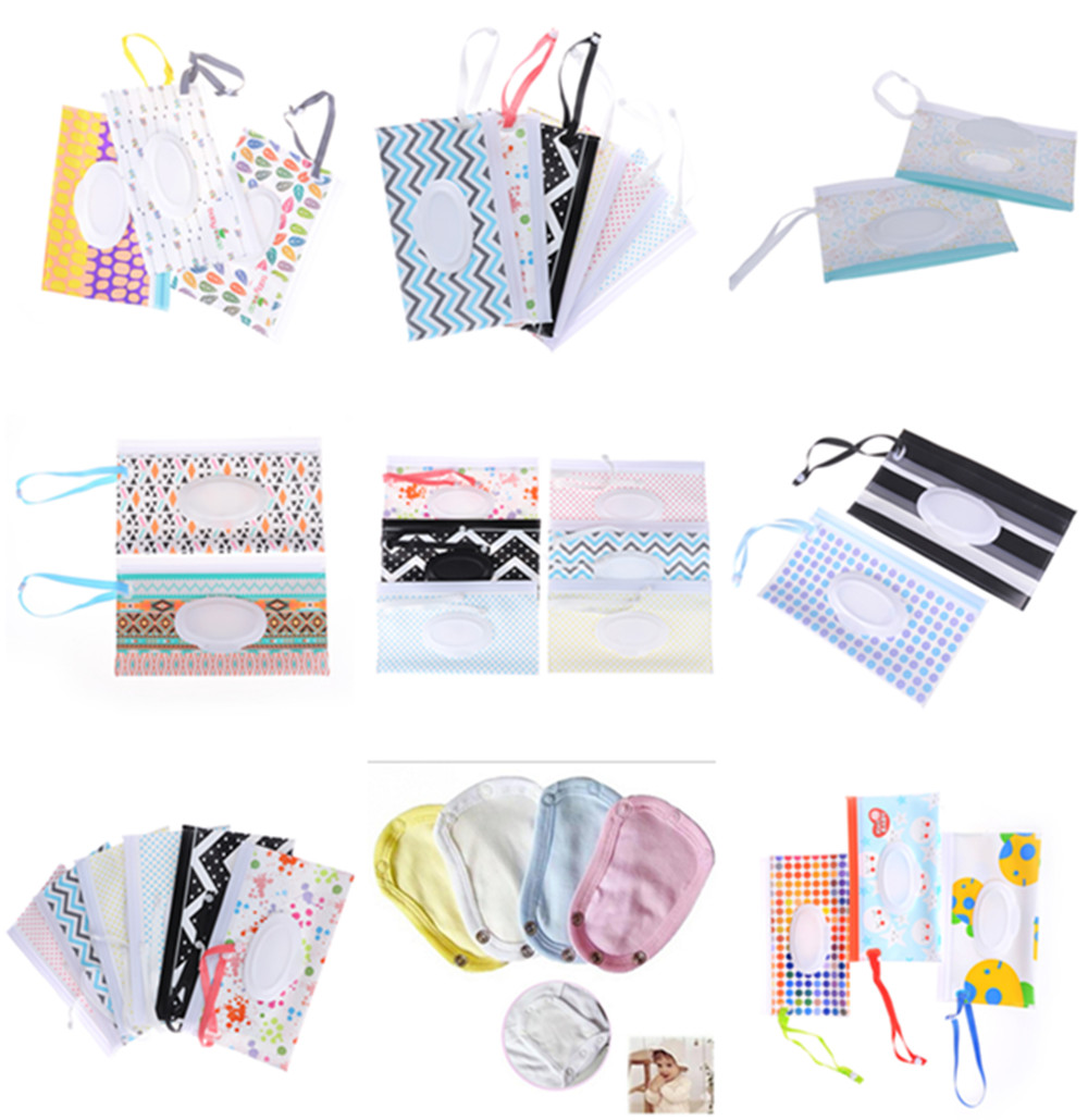 1PCS Baby Wet Wipes Bag Reusable Wet Wipes Cover Container For Wet Wipes Newborn Kids Travel Wipe Bag
