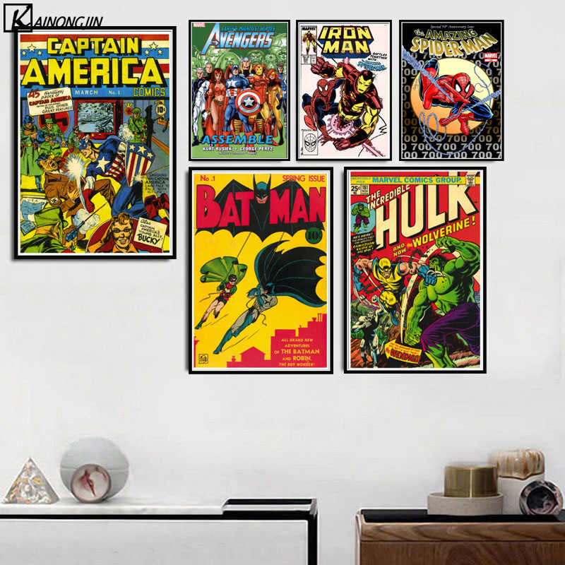 Stan Lee Book Poster Vintage Marvel DC Comic Superhero Posters and Prints Canvas Painting Wall Art for Living Room Home Decor