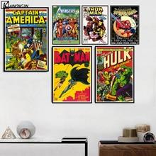 Póster de libro de Stan Marvel Vintage Leess cómic pósteres de superhéroes e impresiones lienzo pintura arte de pared para la decoración del hogar de la sala de estar