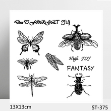 AZSG Different Insect Butterfly Clear Stamps/Seals For DIY Scrapbooking/Card Making/Album Decorative Silicone Stamp Crafts