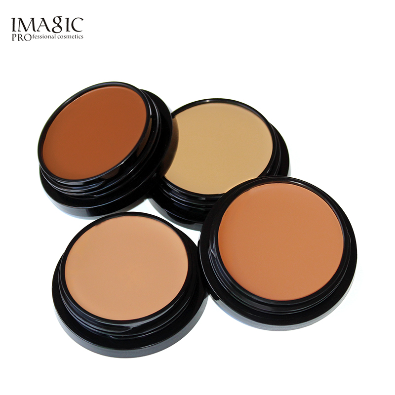 IMAGIC New Face Makeup Concealer Oil-control Foundation Cream for Dark Skin Base Long Lasting Contour Makeup