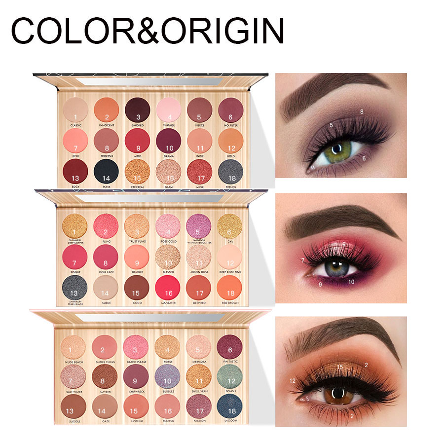 18 Colors Eyeshadow Palette Colorful Rubiks Cube Glitter Eye Shadow Palette Makeup Eyes Cosmetics Pigment Not Easy Fly Powder Commodities Are Available Without Restriction Beauty Essentials