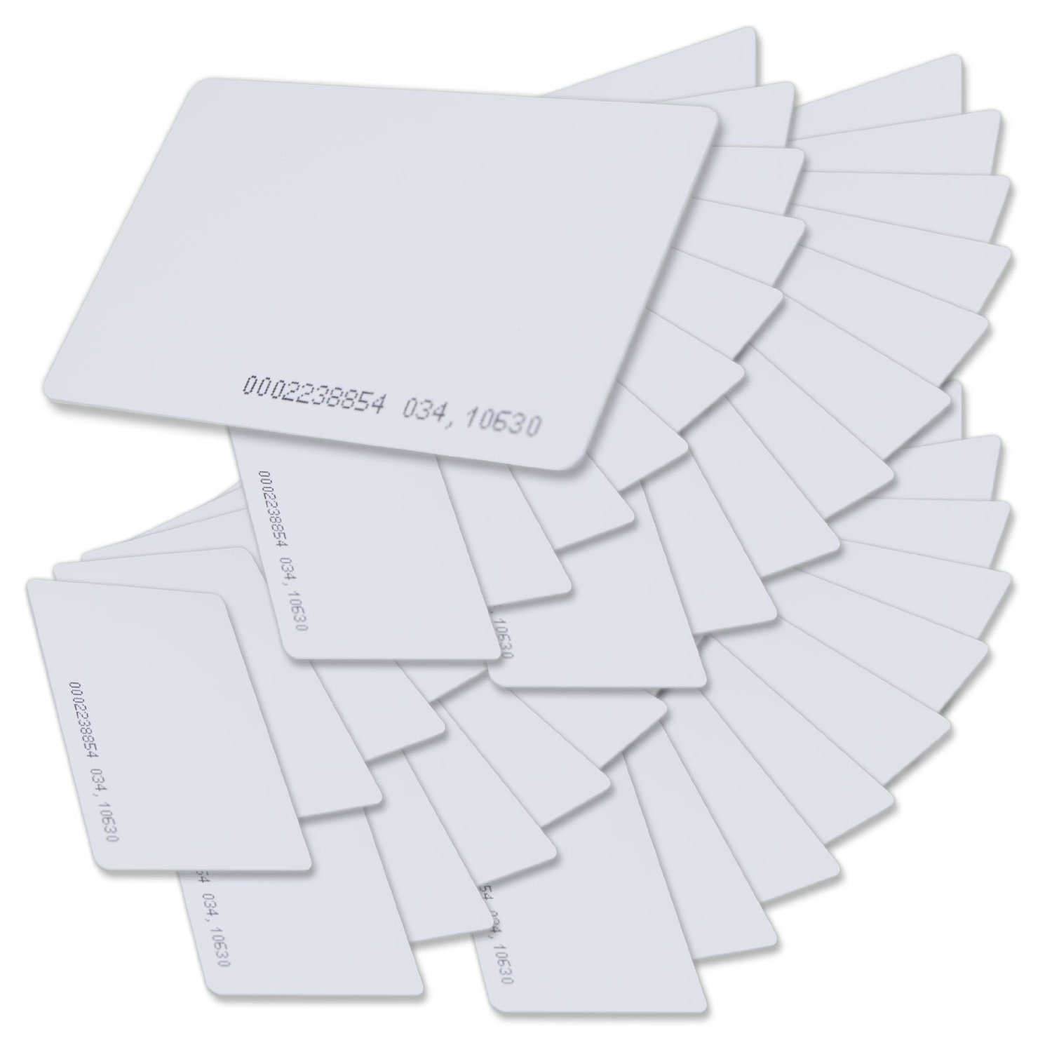 125khz em4100 door entry access blank white proximity rfid clamshell thick card thickness 1 9mm pack of 10 SainSmart Generic Contactless 125kHz EM4100 RFID Proximity ID Smart Entry Access Card (pack of 50)