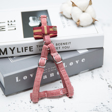 Cute Pet Dog Harness Leash Set Dog Vest for Small Dogs Bow Tie Puppy Harness Princess Chest Strap For Teddy Chihuahua масленка lefard веселые друзья фарфор