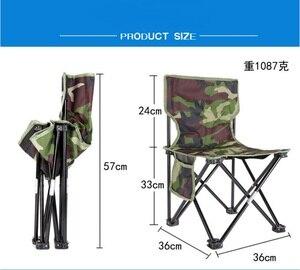Image 5 - Silla para pesca al aire libre plegable ultraligera de Camping senderismo, de camuflaje, portátil, de ocio, Picnic, playa, silla plegable, asiento, taburete