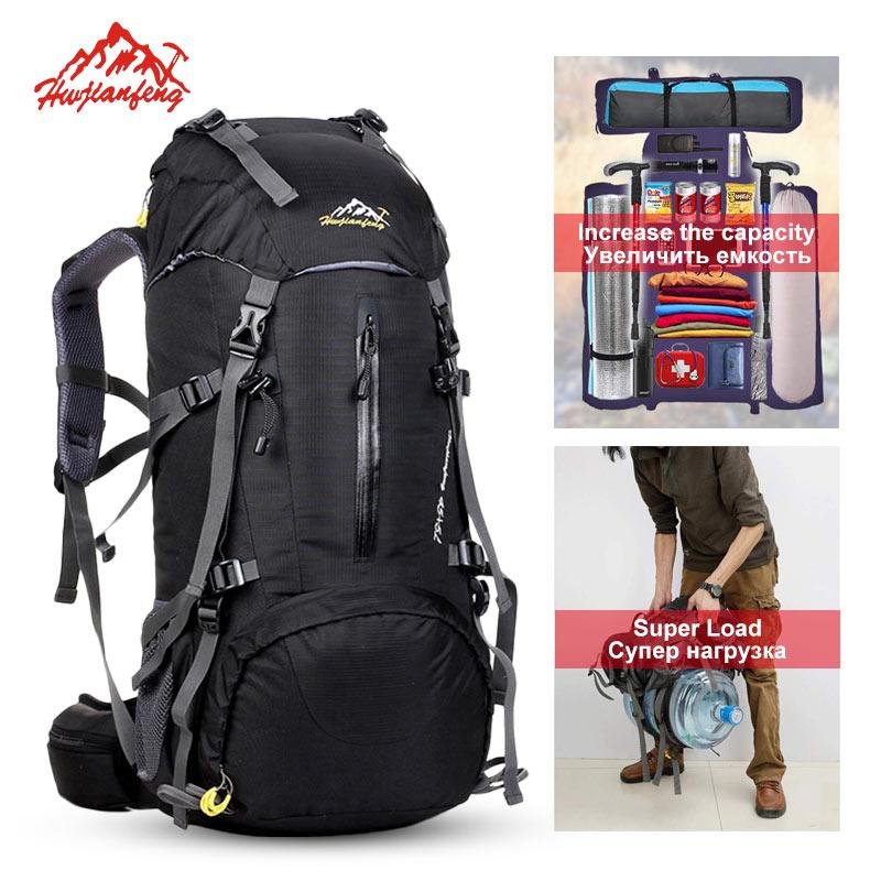 50L Capacity Climbing Backpack Men Women Sport Hiking Camping Backpack Outdoor Mountaineering Waterproof Tactical Backpack Bag