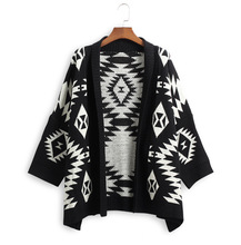 winter xl autumn fashion argyle long woman sweater cute open stitch casual loose female knit