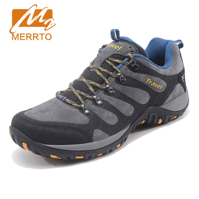MERRTO Hiking Shoes Men's Outdoor Sports Shoes Non slip Wear resistant Hiking Boots Breathable Cushioning Rock Climbing Shoes mulinsen brand new winter men sports hiking shoes cowhide inside keep warm sport shoes wear non slip outdoor sneaker 250666