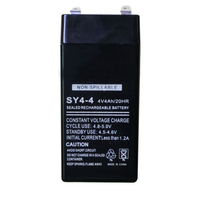 4V lead acid rechargeable storage battery cell pack 4AH for LED light bulb and electronic scale balance maintenance free