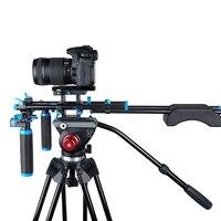 DSLR Rig плеча Видео Камера стабилизатор Поддержка клетка/Матовая коробка/Follow Focus для Canon Nikon sony Камера видеокамера