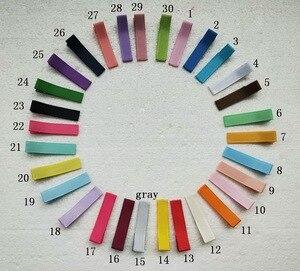 "Image 4 - 240 pcs grampo de Cabelo acessórios 1.8 ""Fita Forrado capa clipes Único Prong Jacaré grampos de cabelo arco de Cabelo meninas flor headwear FJ3206"