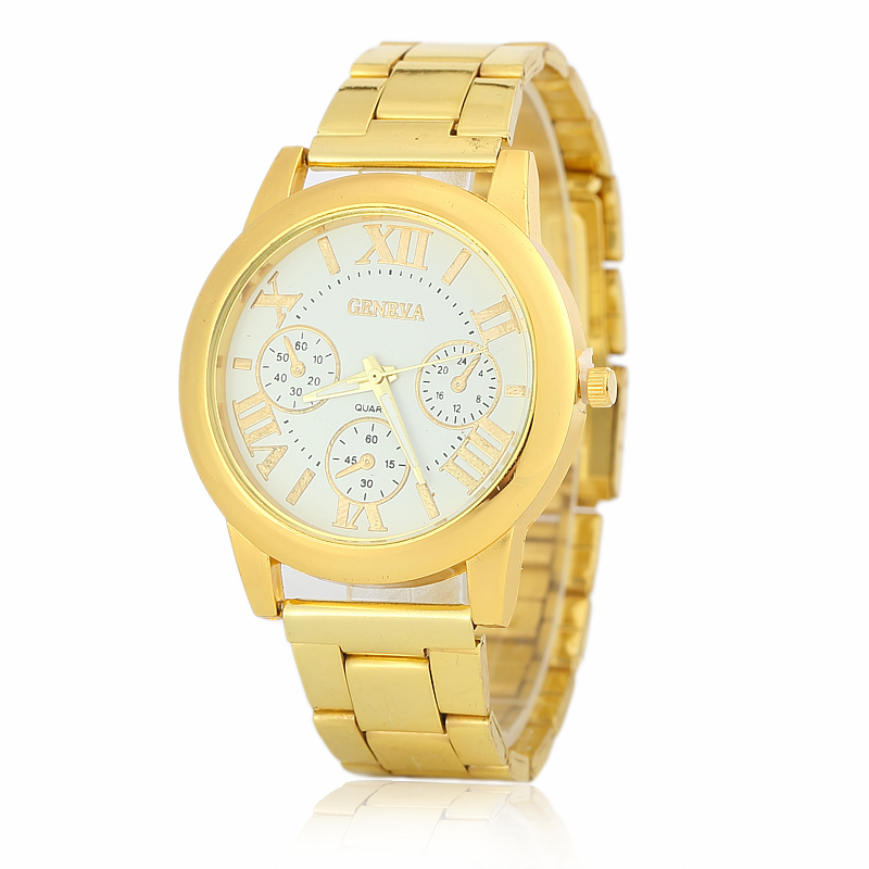 New Stainless Steel Vansvar Watch Business Gold Wristwatch Quartz Watches Men Casual Wrist Watches 1699
