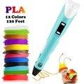 Dikale 3D печать ручка 12 в 3D Ручка Карандаш 3D Ручка для рисования Бесплатная 36 м PLA нить для детей Образование хобби игрушка подарок на день рожде...