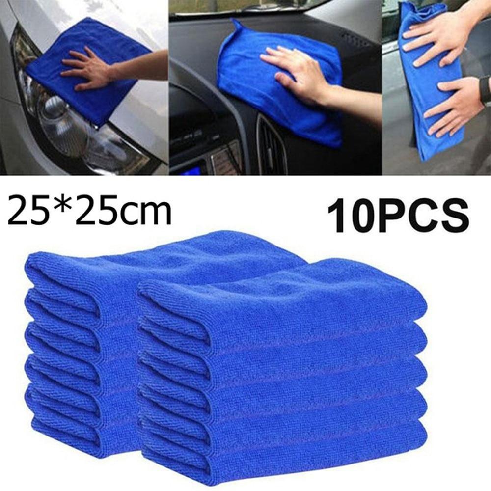 Cloths Duster Car-Towel Detailing Microfiber New 10pcs 25x25cm/9.84''-X-9.84'' -Yl6