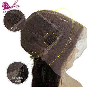 Image 5 - EAYON kręcone ludzkie włosy koronki przodu peruki 130% gęstości brazylijski peruka z kręconych włosów typu Kinky z pełną grzywką dla czarnych kobiet Remy włosy