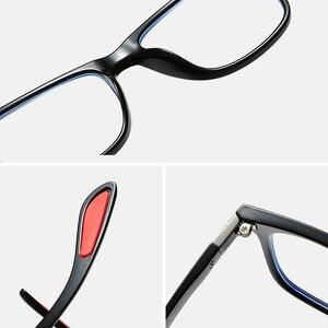 Image 5 - UNIEOWFA Retro şeffaf gözlük çerçeve erkek kadın optik miyopi gözlük çerçevesi şeffaf gözlükler TR90 reçete gözlük