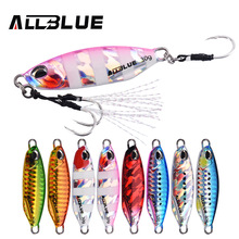 ALLBLUE New DRAGER SLOW Cast Metal Jig Fishing Lure Jigging Spoon 20G 30G Artificial Bait Shore Casting Jig Lead Fishing Tackle