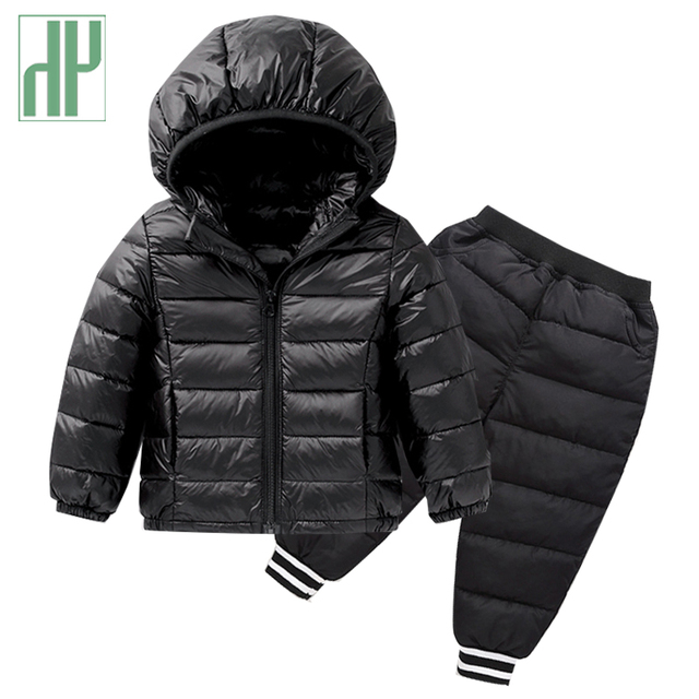 71c9bde25 HH kids winter clothes Down Jackets Clothing Sets Baby girls winter ...