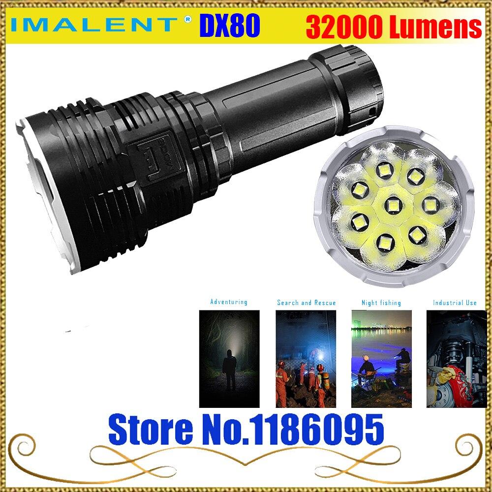 IMALENT DX80 8 * Cree XHP70 светодиодный фонарик 32000 люмен 806 м зарядка через usb Интерфейс фонарик