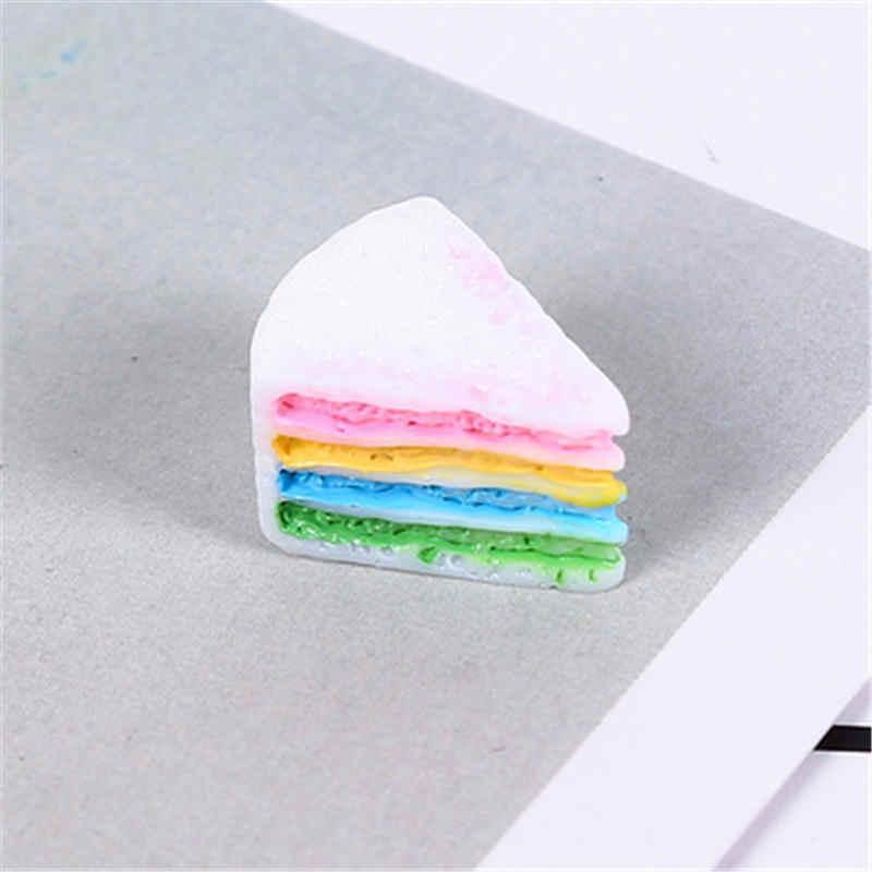 חדש 5PC צבעוני עוגת מילוי עבור ברור/פלאפי בוץ תיבת פופולרי ילדי צעצועי ילדים Lizun רפש DIY קיט אביזרי דוגמנות חימר E