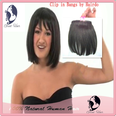 New Hair Tutorial clip in Bangs by Hairdo Fringe front bang hair extension clip in hair  bang hair fringe 1pcs/lot Free shipping