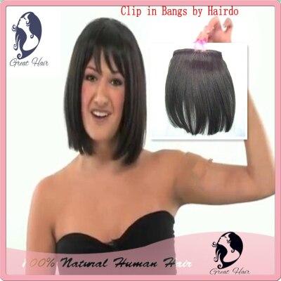 New Hair Tutorial clip in Bangs by Hairdo Fringe front bang decoration clip in hair bang hair fringe 1pcs/lot Free shipping ...