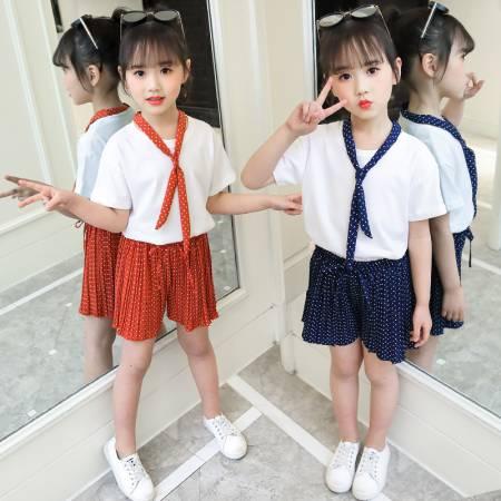641476fa2 Pantalones cortos de verano para niñas 2019 nuevo estilo extranjero  camiseta grande para niños de ...