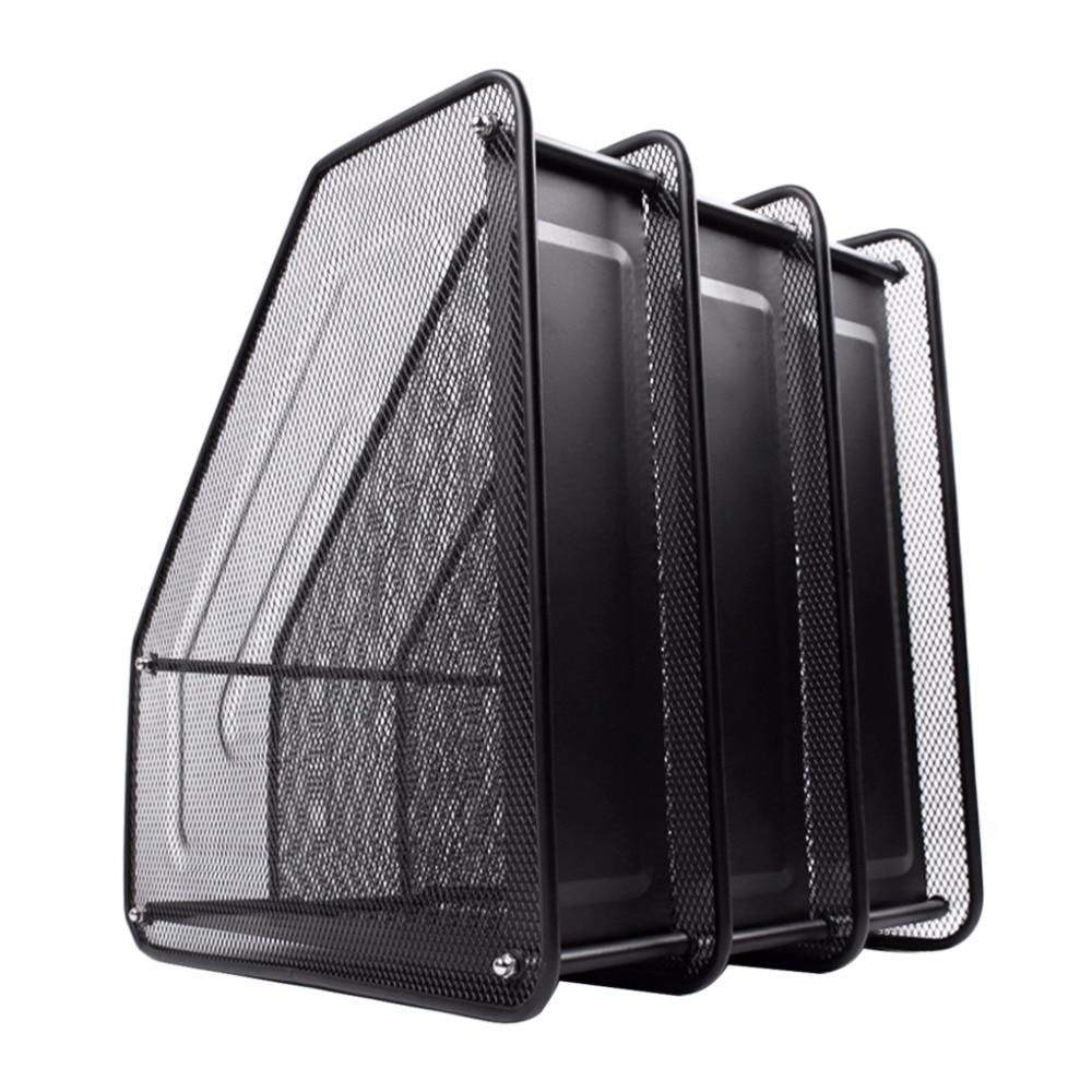 Metal Mesh Desktop Basket Resume File Folder Holders Detachable ...
