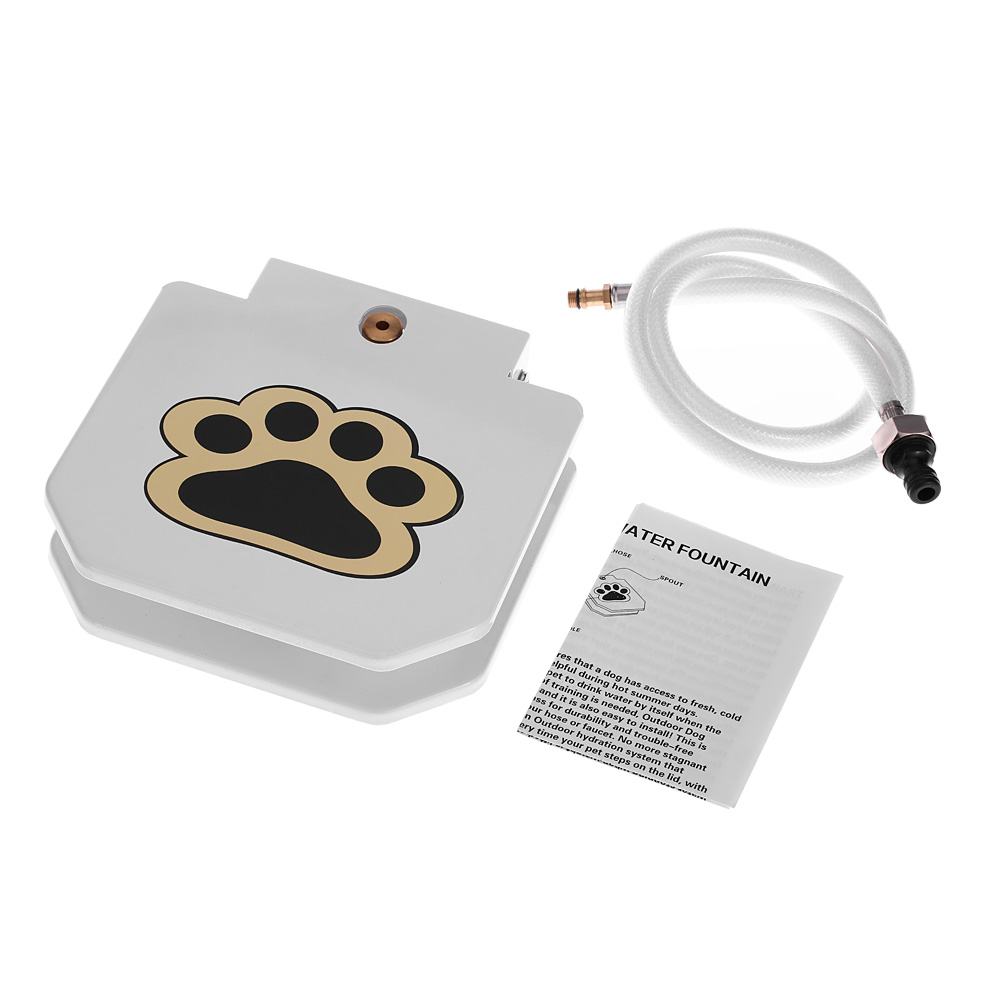 High quality Stainless Steel Pet Dog Cat Water Fountain Outdoor Step ...