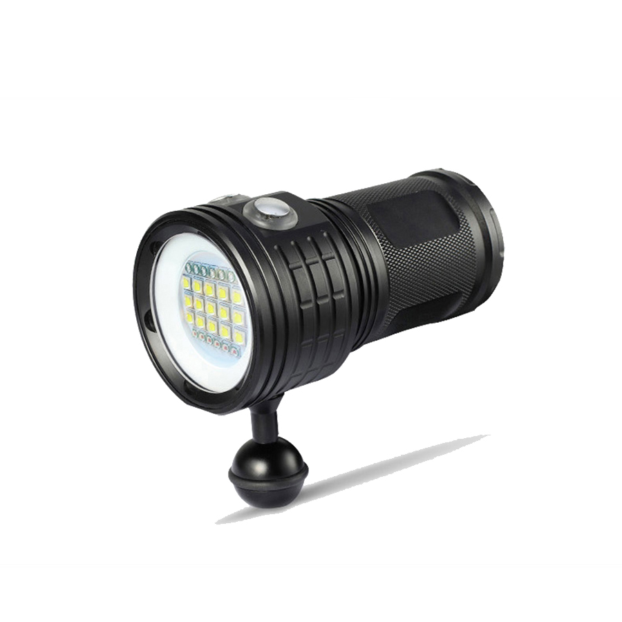 LED Waterproof Diving Flashlight Light XHP70 / 90 XM-L2 Photography Underwater Video Camera Tactical Torch Lighting for Diving