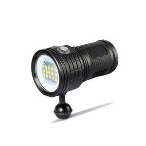 Image 3 - Torcia per Immersione A LED Con 6 XHP70/90 Lampada Perle di luce Super Bright Subacquea Professionale Luce Video Della Macchina Fotografica Per La Fotografia