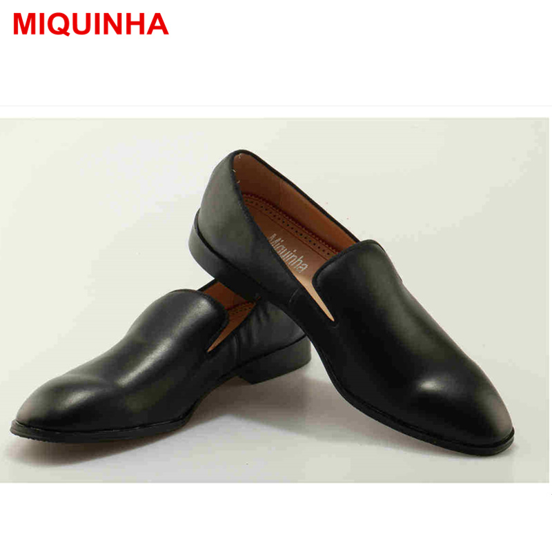 MIQUINHA Round Toe Slip On Black Color Luxury Brand Men Shoes Low Top Casual Shoes Men Flats Loafer Lazy Men Shoes Moccasins abpm50 abpm holter 24 hours ambulatory blood pressure monitor holter digital household health monitor with software usb cable