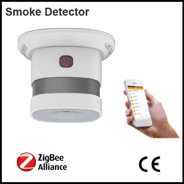 Loud Inbuilt Siren 85db Fire Alarm Sensor Wireless Zigbee Smoke Detecting Sensor