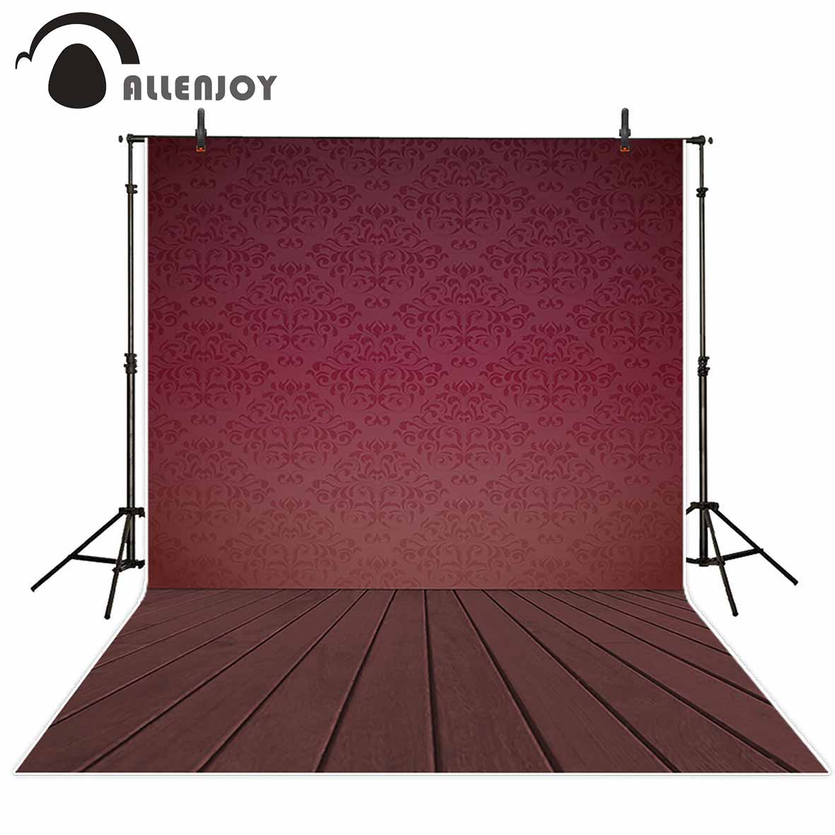 Allenjoy vinyl photographic background Red noble decoration damask wallpaper Photographic background for study Photo background