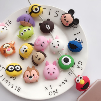 Cute Creative Cartoon Animal Cable Protector Design For Iphone Usb Cable Chompers Holder
