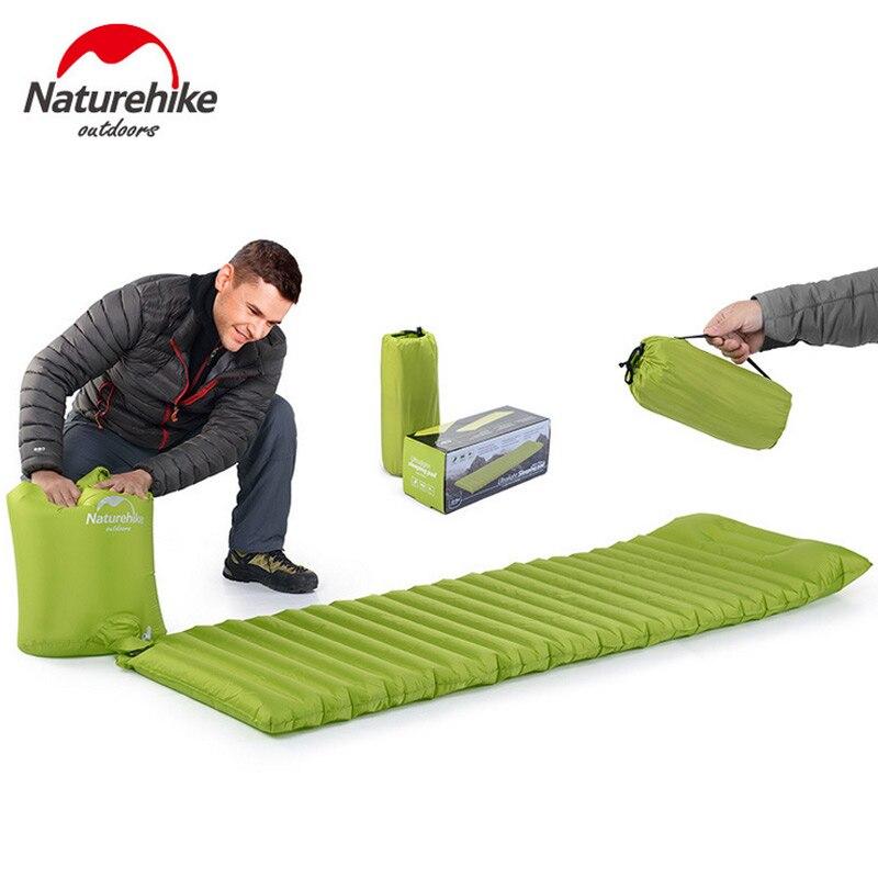 Naturehike сверхлегкий открытый воздушный матрац влагостойкий надувные подушки коврик с ТПУ Кемпинг кровать, палатка спальный коврик для кемпи...
