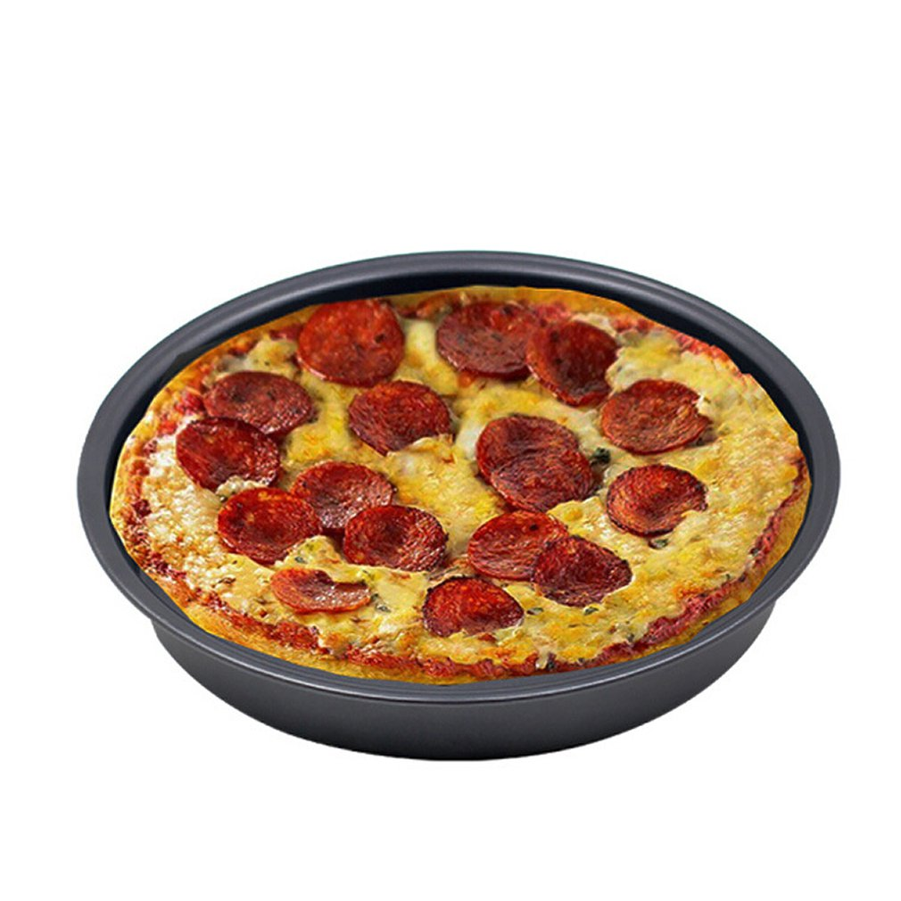 Baking Thick Non-stick Pizza Baking Tray Carbon Steel Round Baking Tray 6 Inch 7 Inch 8 Inch Diy Cake Tray Microwave