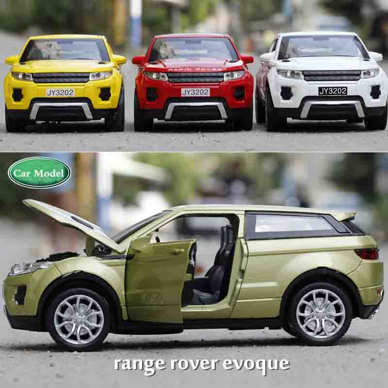 1:32 Toy Car Range Rover Car Model Metal Alloy Diecasts & Toy Vehicles Model Pull Back Electric Car Toys For Children
