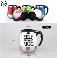 Stainless Lazy Self Stirring Mug Auto Mixing Tea Coffee Cup Office Home Gifts