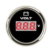 52mm Car Voltmeter LCD Digital Voltmeter Voltage Gauges 12V 24V for Motorcycle Auto Ship 7 Color Backlight LED