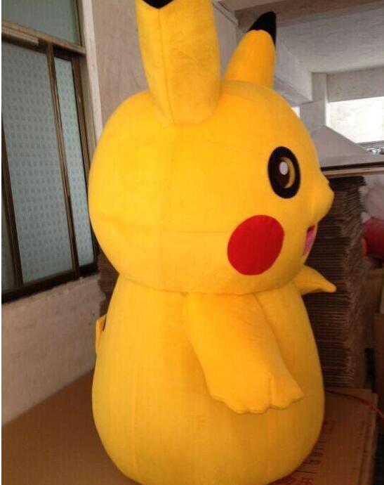 Pikachu Pokemon maskotti puku fancy mekko asu ilmainen - Carnival puvut - Valokuva 5